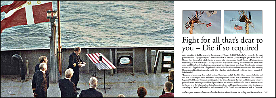 """Carlsen's wish is that his ashes be spread in the sea close to where """"Flying Enterprise"""" went down"""